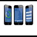 Drei Smartphones mit verschiedenen Screens der App Easycontrol Pro