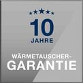 Logo Buderus 10 Jahre Wärmetauschergarantie